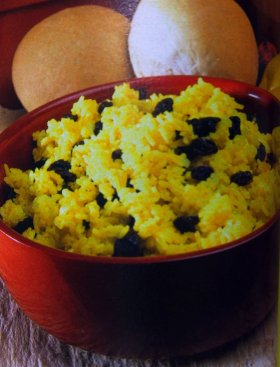 Resep Yellow Rice With Raisin